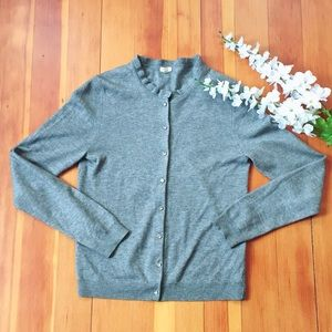 J. Crew Cashmere Blend Cardigan Sweater Size Small